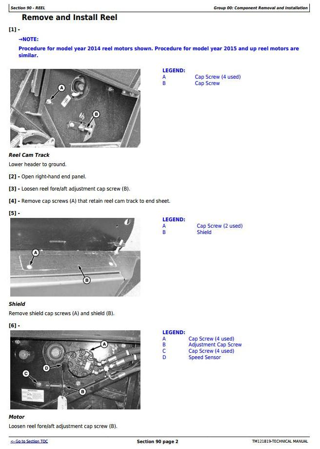 TM121819 - John Deere 140A, 160A, 180A Auger Platform Diagnostic, Repair Technical Service Manual - 2