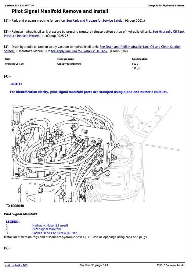 TM12182 - John Deere 870GLC Excavator with 6WG1XZSA-02 Engine Service Repair Technical Manual - 3