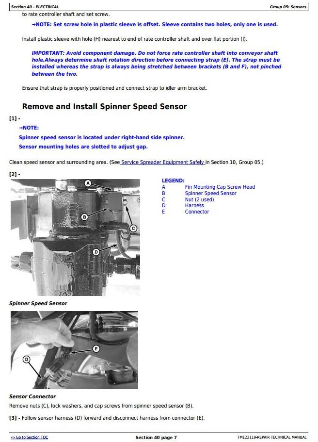 TM122119 - John Deere DN200, DN300 Dry Fertilizer Spreader Sprayers Service Repair Technical Manual - 2