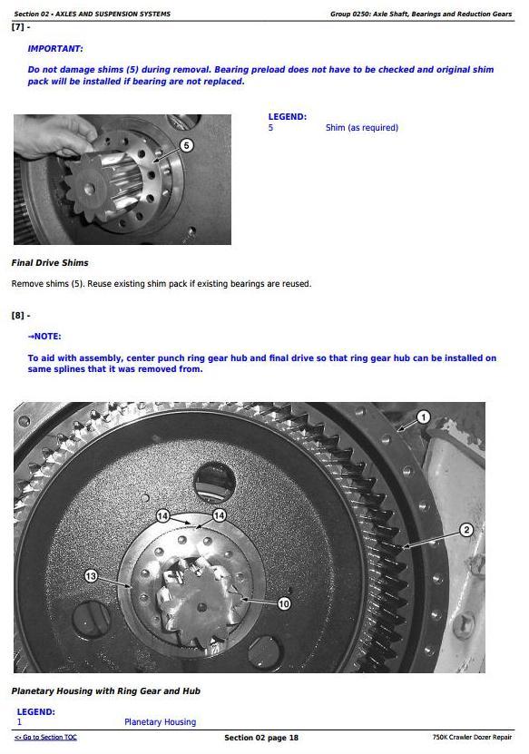 TM12269 - John Deere 750K Crawler Dozer Service Repair Technical Manual - 1