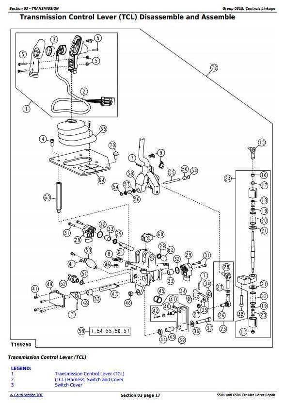 TM12289 - John Deere 550K and 650K Crawler Dozer Service Repair Technical Manual - 1
