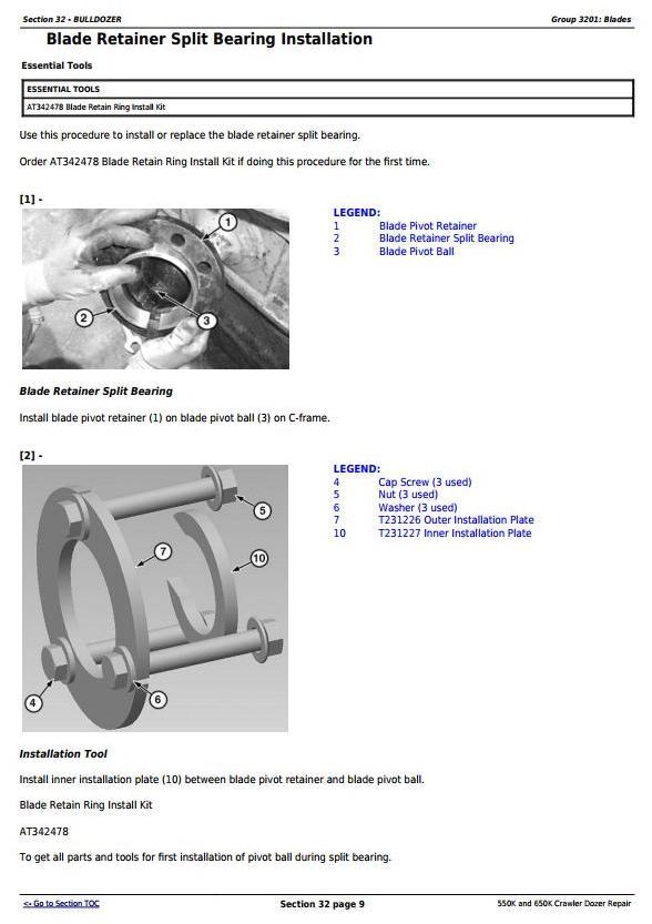 TM12289 - John Deere 550K and 650K Crawler Dozer Service Repair Technical Manual - 3