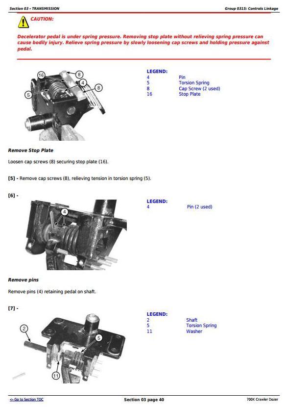 TM12295 - John Deere 700K Crawler Dozer (S.N. 217278-275435) Service Repair Technical Manual - 2