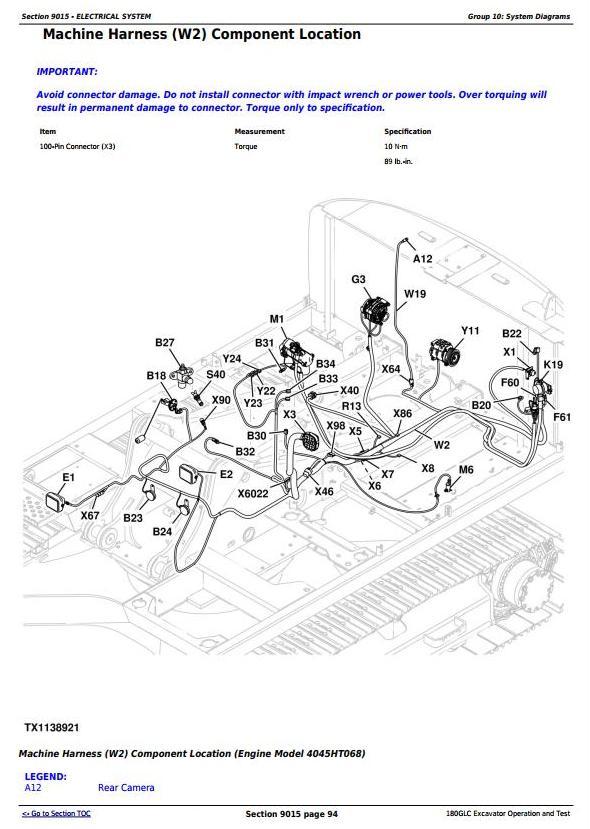 TM12336 - John Deere 180GLC (PIN:1FF180GX__E020001-) iT4/S3B Excavator Operation, Test Service Manual - 1