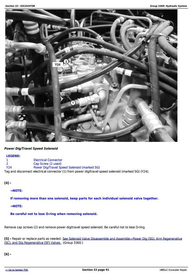 TM12339 - John Deere 180GLC (PIN: 1FF180GX__E020001-) iT4/S3B Excavator Service Repair Manual - 2