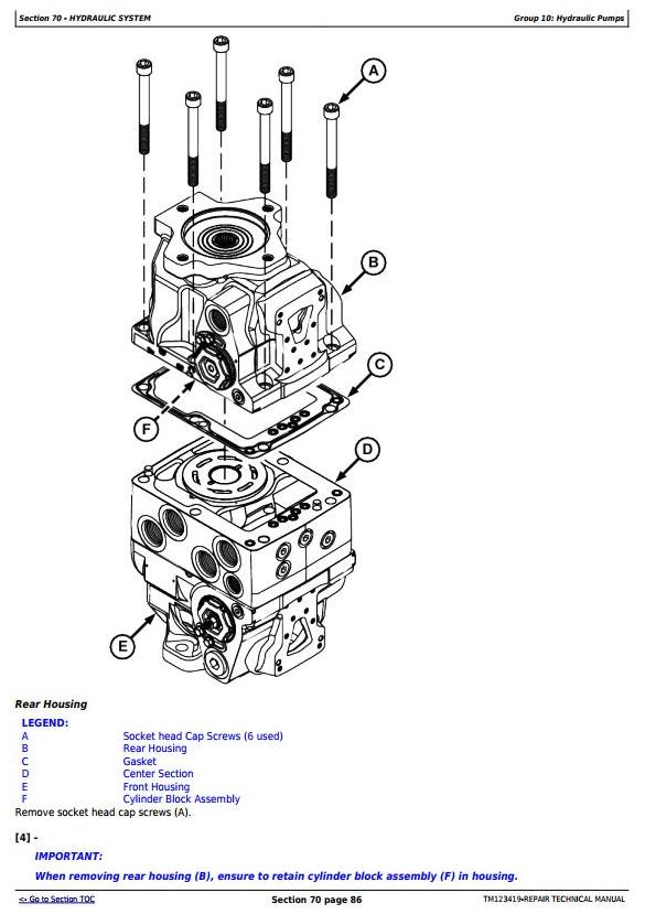 TM123419 - John Deere / Thibodaux CH330 Sugar Cane Harvester (SN.121901-) Repair Service Manual - 1
