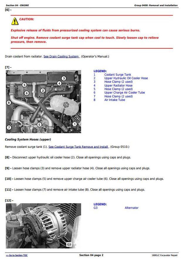 TM12345 - John Deere 160GLC (PIN: 1FF160GX__E055001-) iT4/S3B Excavator Service Repair Manual - 1