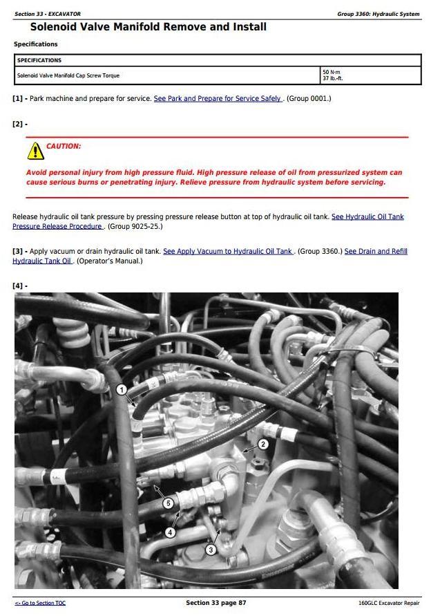 TM12345 - John Deere 160GLC (PIN: 1FF160GX__E055001-) iT4/S3B Excavator Service Repair Manual - 2