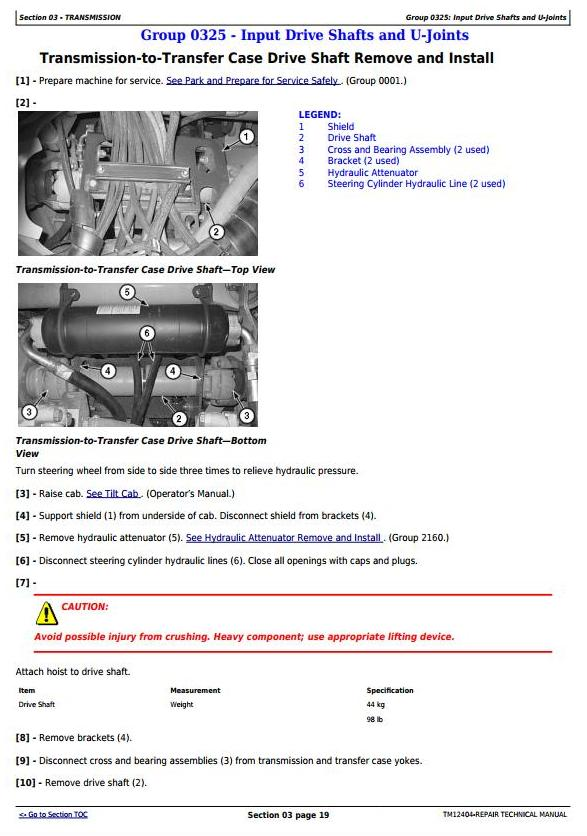 TM12404 - John Deere 250D Series II, 300D Series II ADT 1DW250D2__E642001- (iT4/S3B) Repair Technical manual - 2