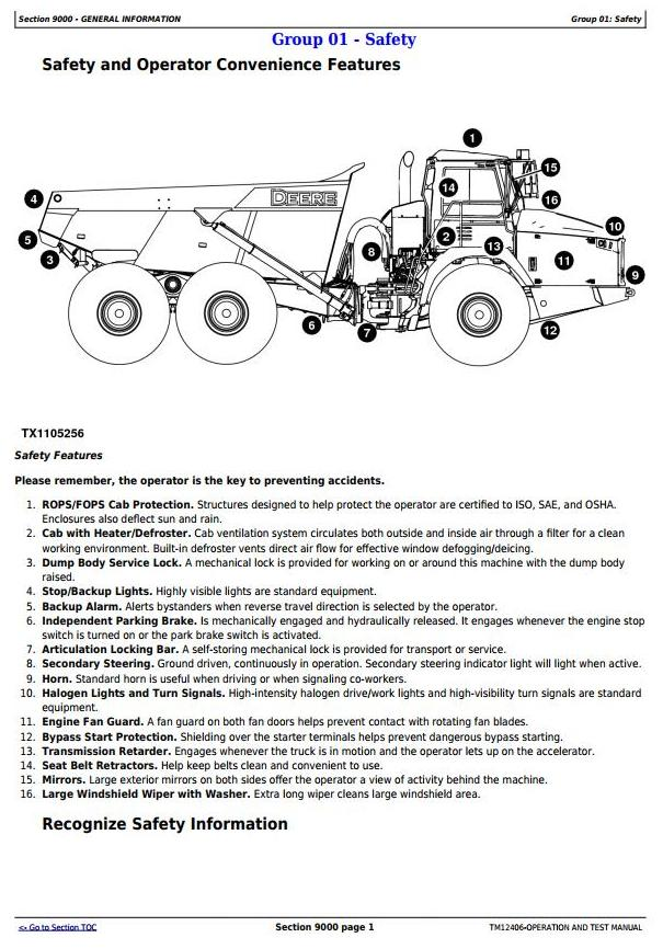 TM12406 - John Deere 370E, 410E, 460E ADT 1DW370E___E634583- (iT4/S3B) Operation and Test Manual - 1