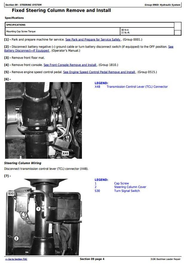 TM12436 - John Deere 310K (iT4/S3B) Backhoe Loader (SN: E219607-) Service Repair Technical Manual - 2
