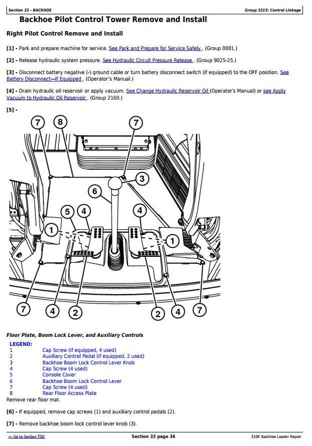 TM12448 - John Deere 310K Backhoe Loader (SN. D219707-; C219607-) Service Repair Technical Manual - 2