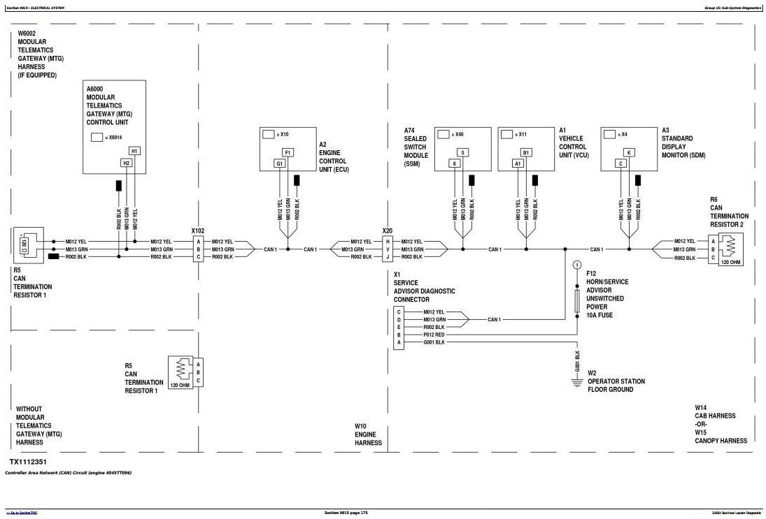 TM12465 - John Deere 310SK (T3/S3A) Backhoe Loader (SN: D219607-) Diagnostic and Test Service Manual - 1