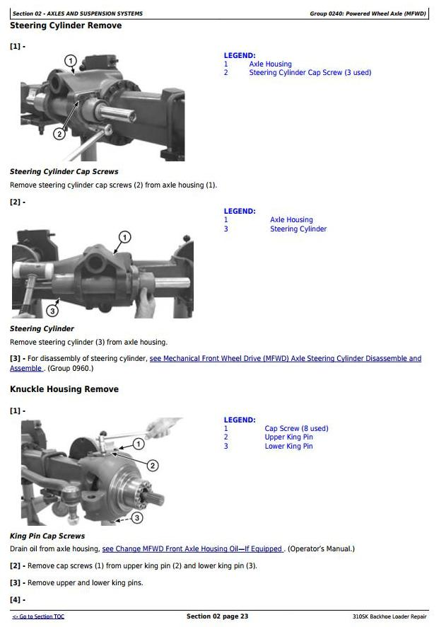 TM12466 - John Deere 310SK (T3/S3A) Backhoe Loader (SN: D219607-) Service Repair Technical Manual - 1