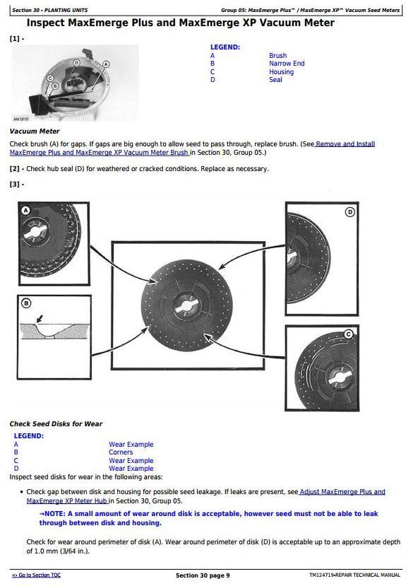 TM124719 - John Deere 1700, 1710, 1720, 1730, 1750, 1780 Planters (SN. 740101-) Service Repair Manual - 1