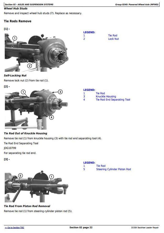 TM12472 - John Deere 315SK (T3/S3A) Backhoe Loader (SN: D229820-) Service Repair Technical Manual - 1