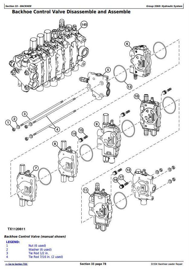 TM12472 - John Deere 315SK (T3/S3A) Backhoe Loader (SN: D229820-) Service Repair Technical Manual - 3