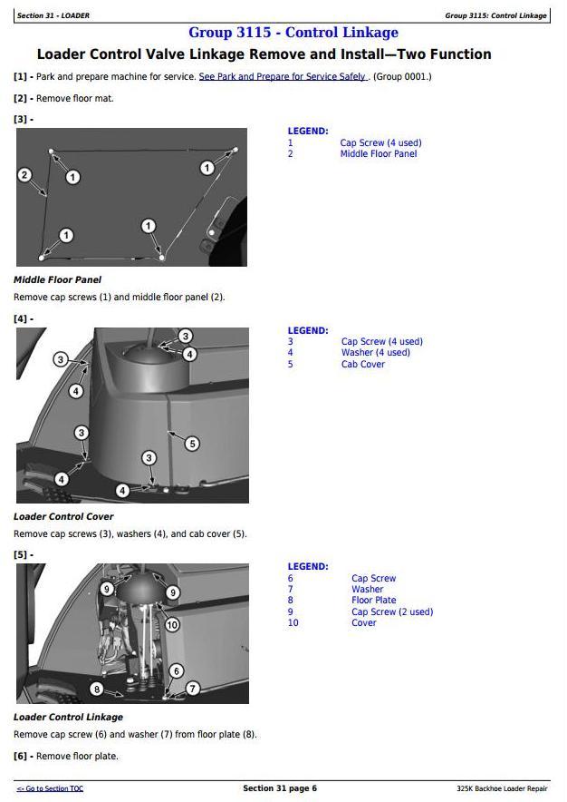 TM12484 - John Deere 325K (T2/S2) Backhoe Loader (SN:C219607-C234969) Service Repair Technical Manual - 2