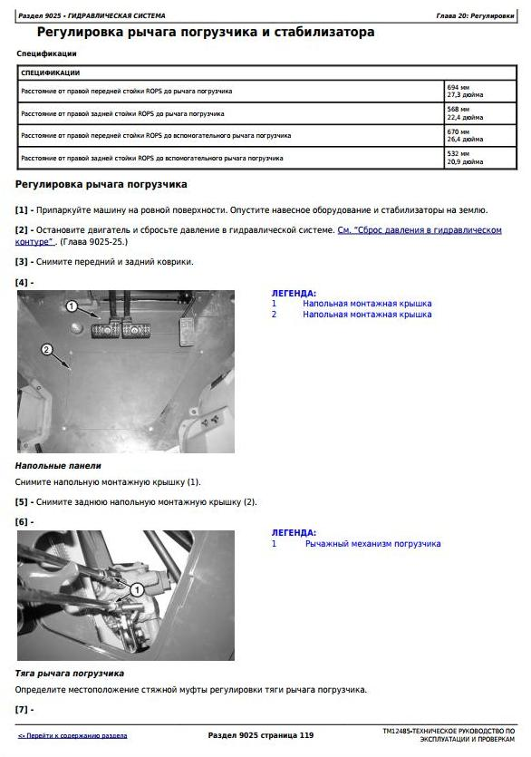 TM12485 - John Deere 325K (SN.C219607-234969) Backhoe Loader Diagnostic Service Manual - Russian - 2