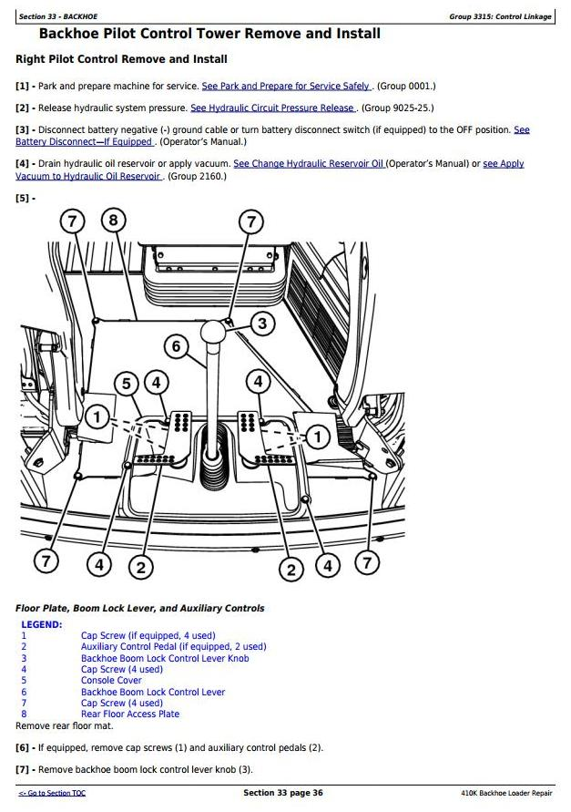 TM12494 - John Deere 410K Backhoe Loader (SN: from 219607) (iT4/S3B) Service Repair Technical Manual - 2