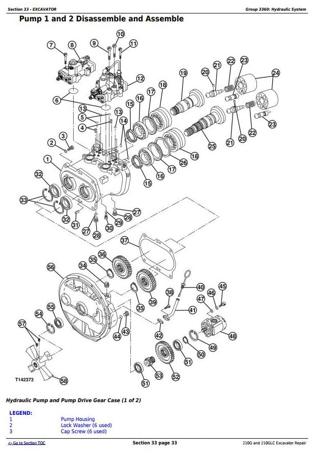 TM12539 - John Deere 210G and 210GLC (PIN: 1FF210GX__C520001-) T2/S2 Excavator Service Repair Manual - 2