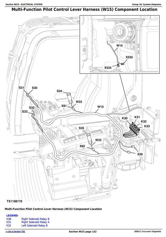 TM12542 - John Deere 180GLC (PIN: 1FF180GX__D020001) T3/S3A Excavator Diagnostic, Operation and Test manual - 1