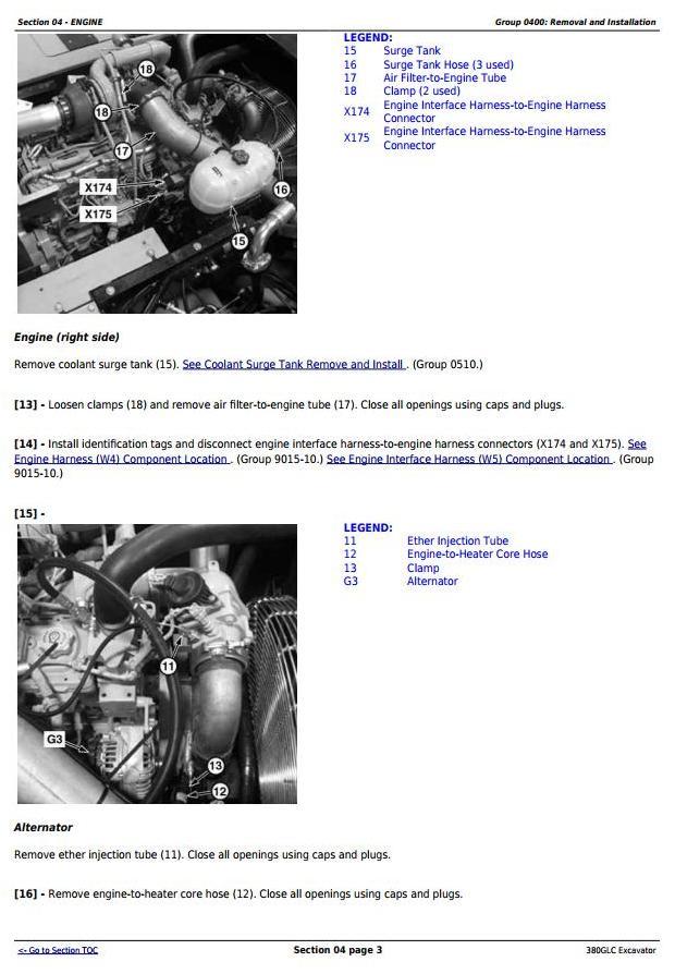 TM12575 - John Deere 380GLC (PIN:1FF380GX__D900001) T3/S3A Excavator Service Repair Technical Manual - 1