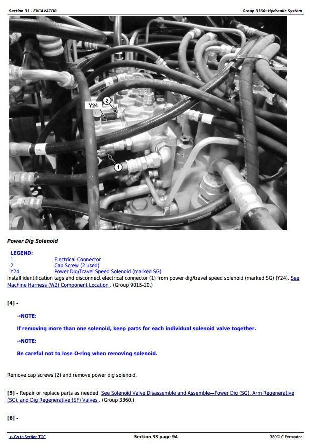 TM12575 - John Deere 380GLC (PIN:1FF380GX__D900001) T3/S3A Excavator Service Repair Technical Manual - 3