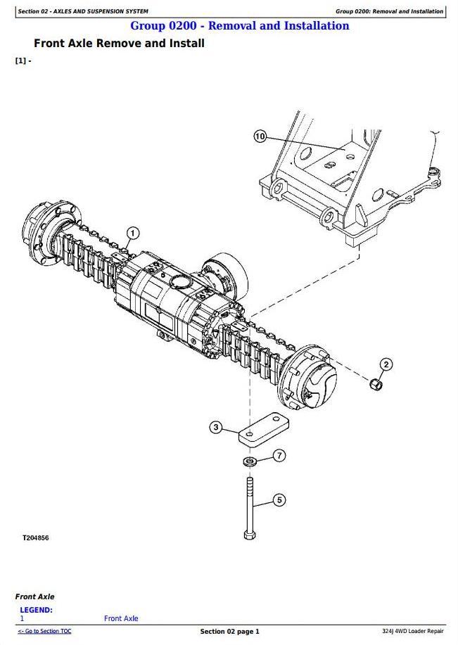 TM12586 - John Deere 324J 4WD Loader Service Repair Technical Manual - 1