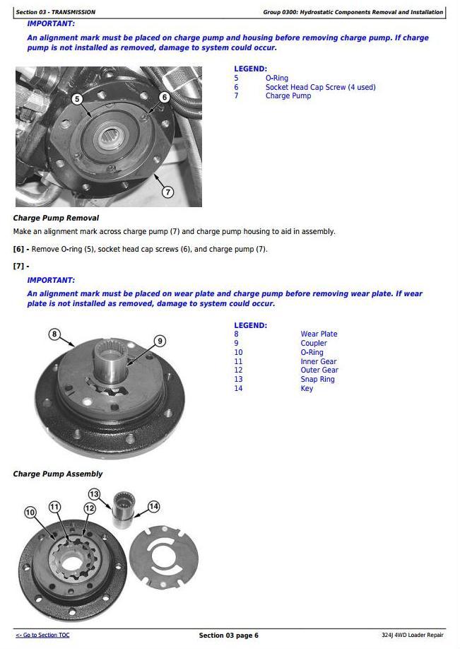 TM12586 - John Deere 324J 4WD Loader Service Repair Technical Manual - 2
