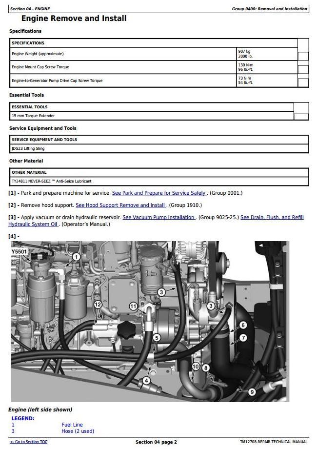 TM12708 - John Deere 644K Hybrid (SN. from E651322) 4WD Loader Service Repair Technical Manual - 2