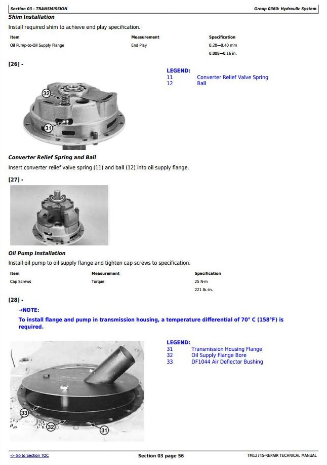 TM12745 - John Deere WL56 4WD Loader with T2/S2 Engines Service Repair Technical Manual - 2