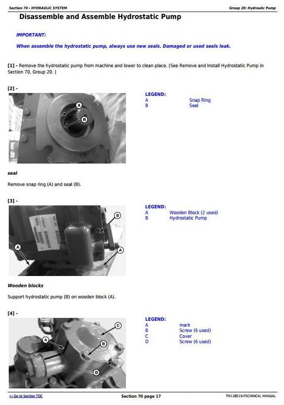 TM128519 - John Deere C230 (4LZ-11,4LZ-11A) Full-Feeder Combines Diagnostic, Repair Technical Manual - 1