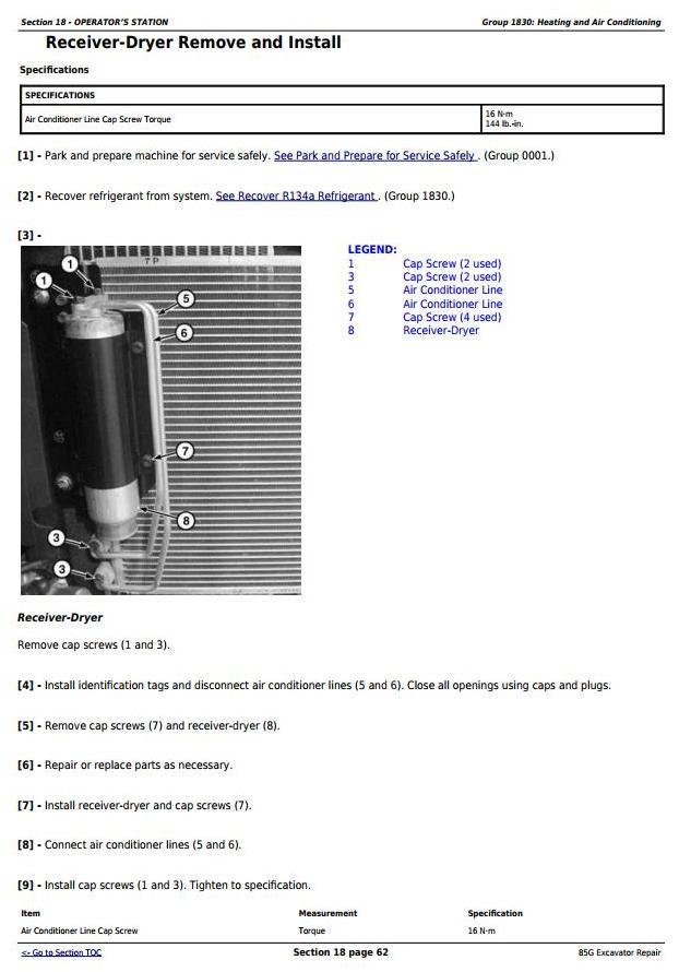 TM12870 - John Deere 85G (FT4) Excavator Service Repair Technical Manual - 1