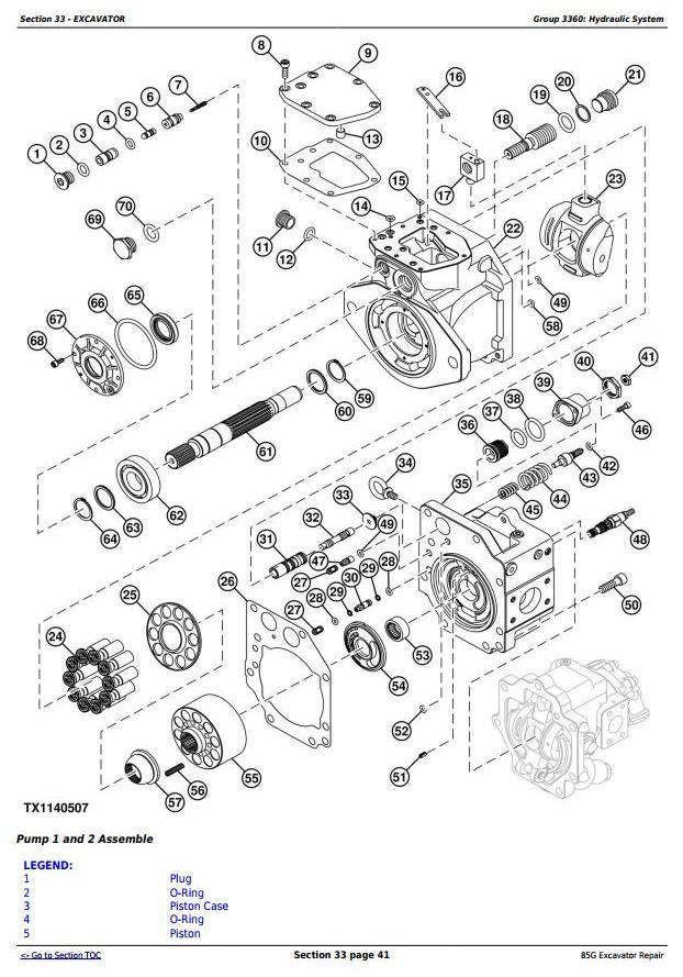 TM12870 - John Deere 85G (FT4) Excavator Service Repair Technical Manual - 2