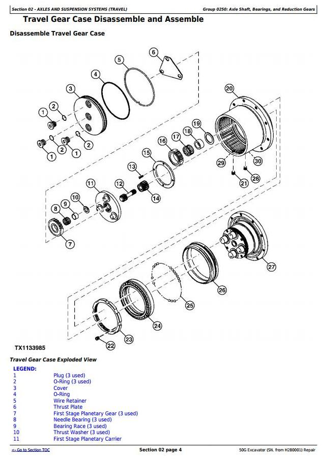 TM12888 - John Deere 50G (SN. from H280001) Compact Excavator Service Repair Technical Manual - 1