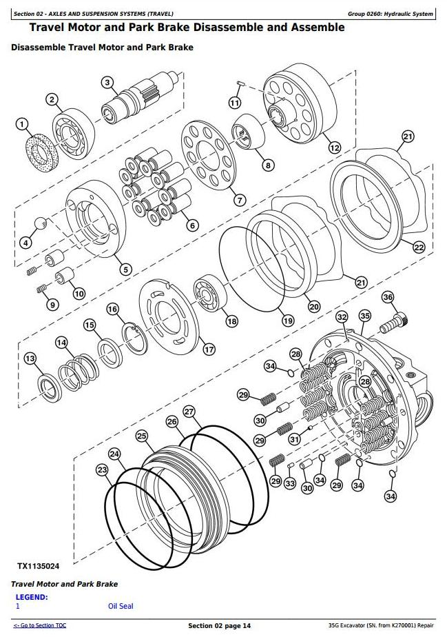 TM12894 - John Deere 35G (SN. from K270001) Compact Excavator Service Repair Technical Manual - 1