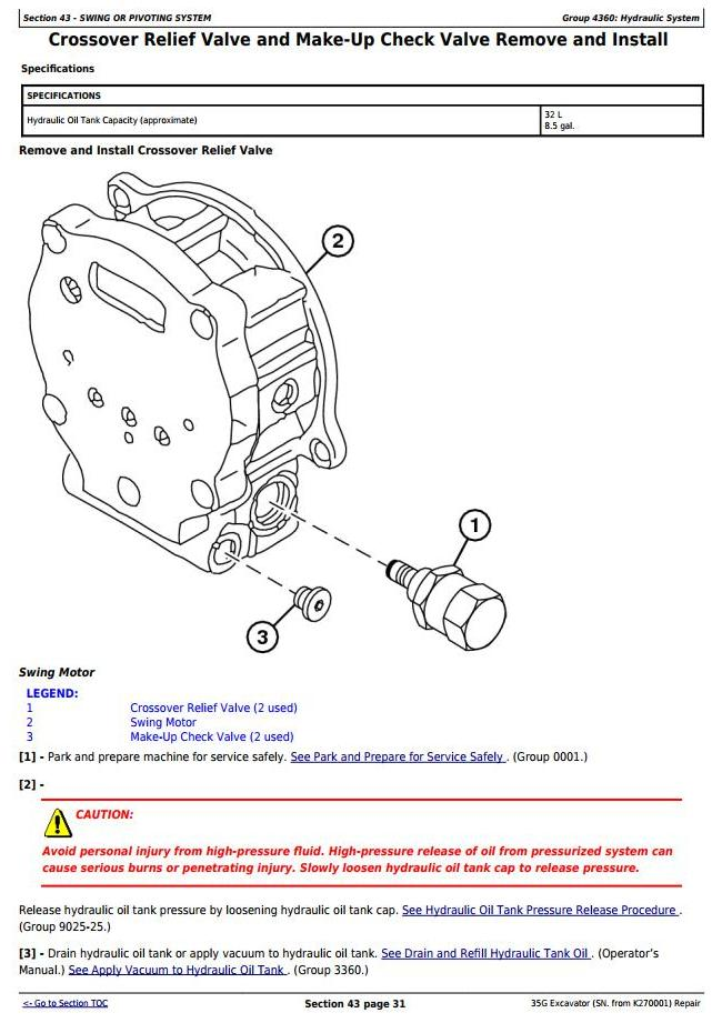 TM12894 - John Deere 35G (SN. from K270001) Compact Excavator Service Repair Technical Manual - 3
