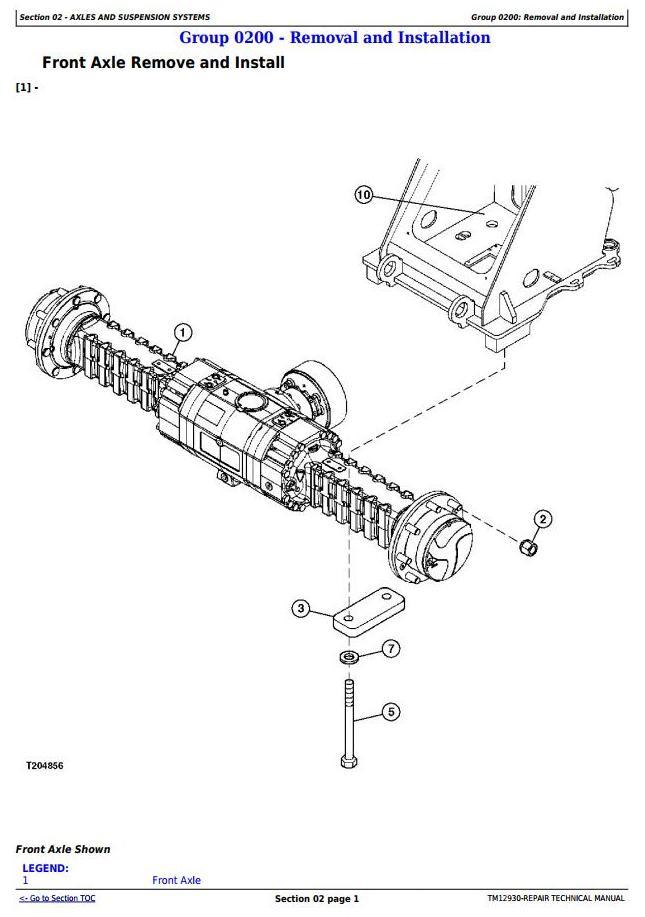 TM12930 - John Deere 344K (SN. from B030077) iT4 4WD Loader Service Repair Technical Manual - 1