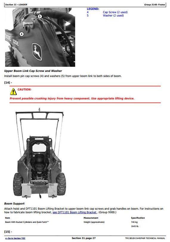 TM13010X19 - John Deere 318E 319E 320E 323E Skid Steer & Compact Track Loader (Man.Ctrl) Repair Manual - 2