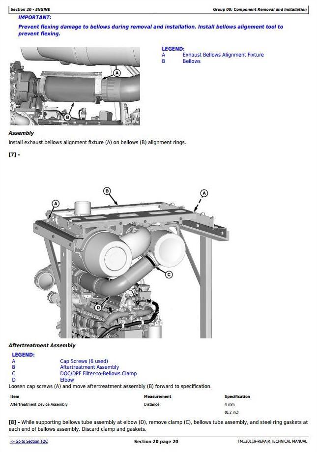 TM130119 - John Deere W235 Self-Propelled Draper Hay&Forage Windrower Service Repair Technical Manual - 1