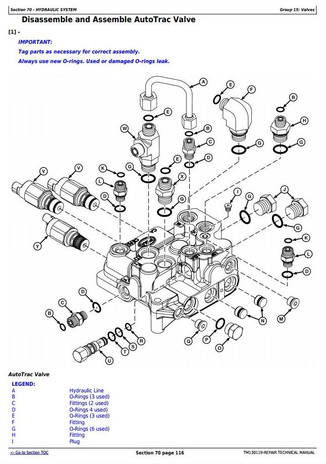 TM130119 - John Deere W235 Self-Propelled Draper Hay&Forage Windrower Service Repair Technical Manual - 3