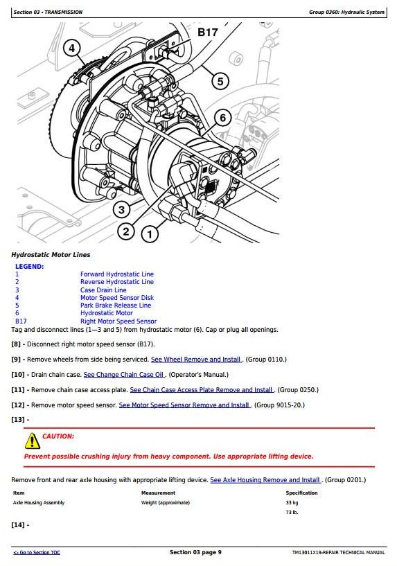 TM13011X19 - John Deere 318E, 319E, 320E, 323E Skid Steer & Compact Track Loaders (EH) Repair Manual - 2
