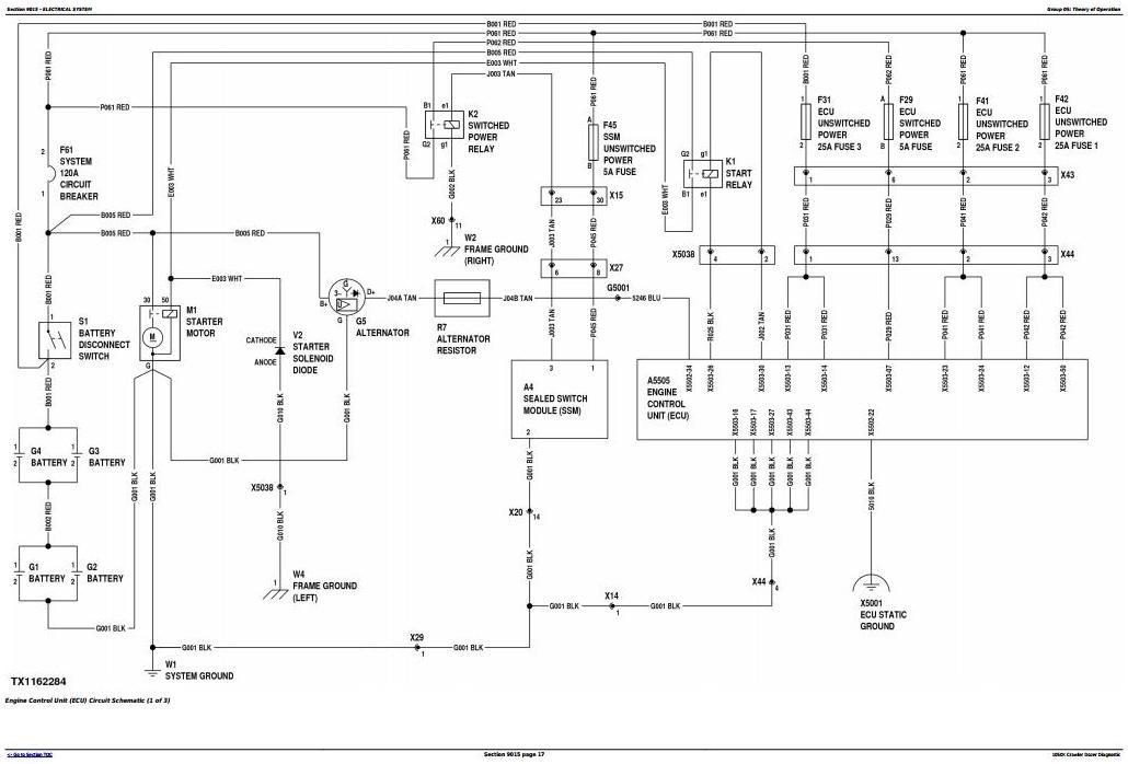 TM13096X19 - John Deere 1050K Crawler Dozer (PIN: 1T01050K**F268234-) Diagnostic, Op & Test Manual - 1