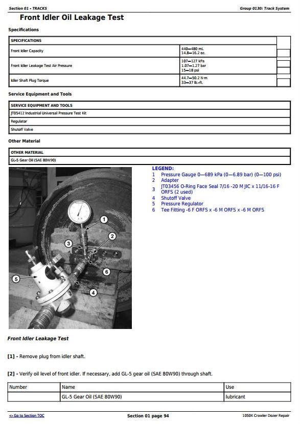 TM13097X19 - John Deere 1050K Crawler Dozer (PIN:1T01050K**F268234-) Service Repair Technical Manual - 1