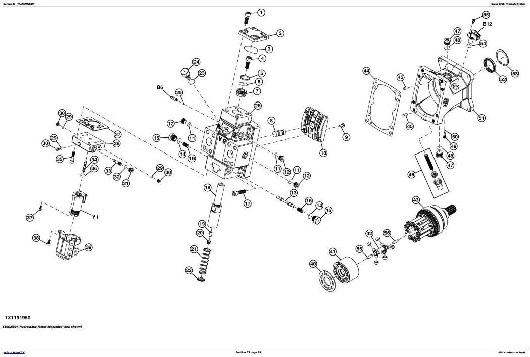 TM13097X19 - John Deere 1050K Crawler Dozer (PIN:1T01050K**F268234-) Service Repair Technical Manual - 2
