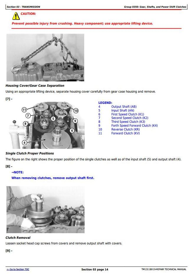 TM13118X19 - John Deere 624K 4WD Loader (SN:C658065-677548; D658065-677548) Service Repair Manual - 1