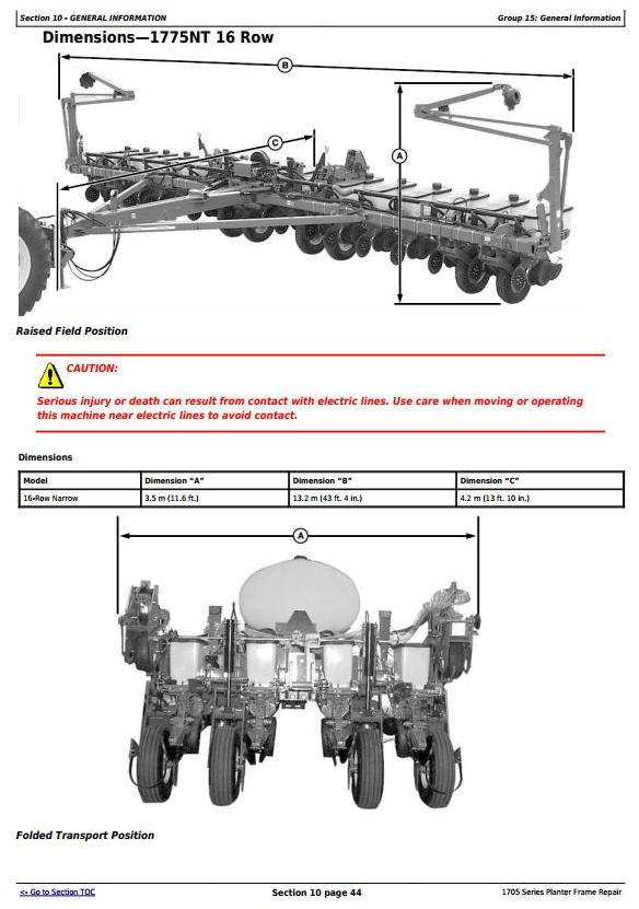 TM131319 - John Deere 1705, 1715, 1725, 1735, 1755, 1765, 1775, 1785, 1795 Planter Frame Repair Manual - 3