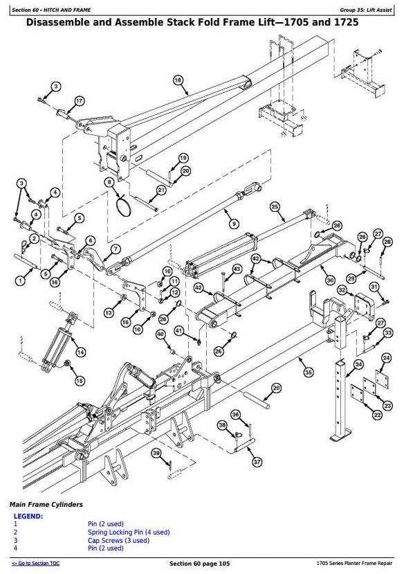 TM131319 - John Deere 1705, 1715, 1725, 1735, 1755, 1765, 1775, 1785, 1795 Planter Frame Repair Manual - 2