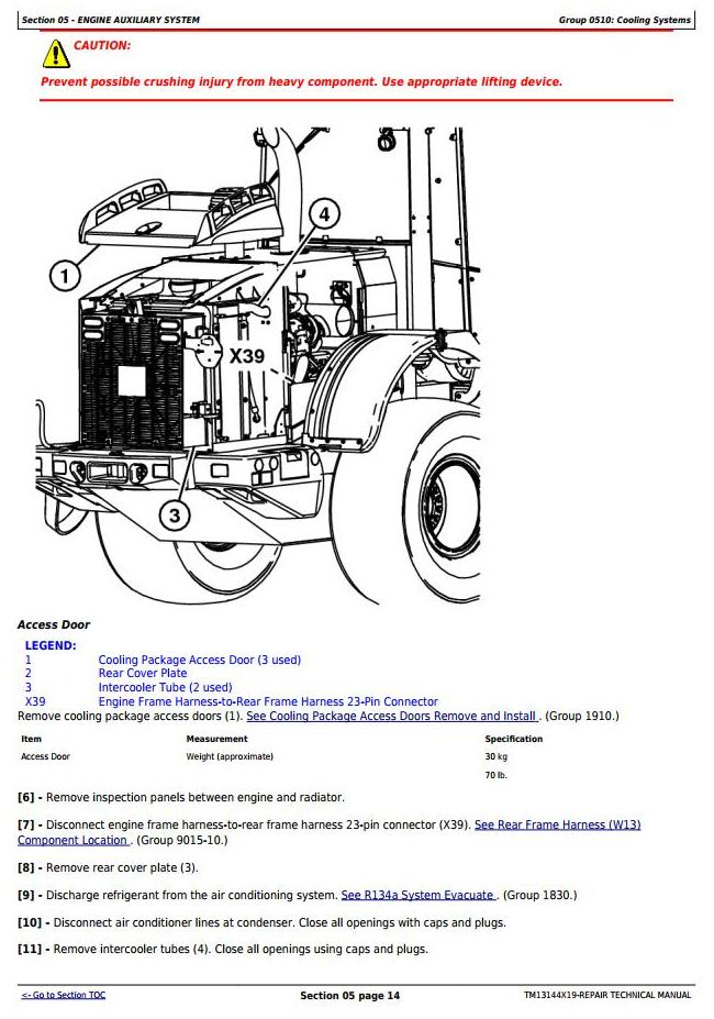 TM13144X19 - John Deere 544K (T3/S3a) 4WD Loader (SN.D000001-001000) Service Repair Technical Manual - 2